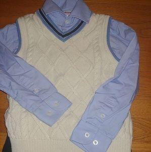 Isaac Mizrahi boys dress set pants shirt 4 5